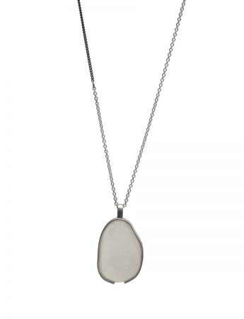 Large Beach Glass Necklace – Pale Aqua