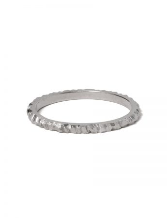 Mini Facet Ring - White Gold