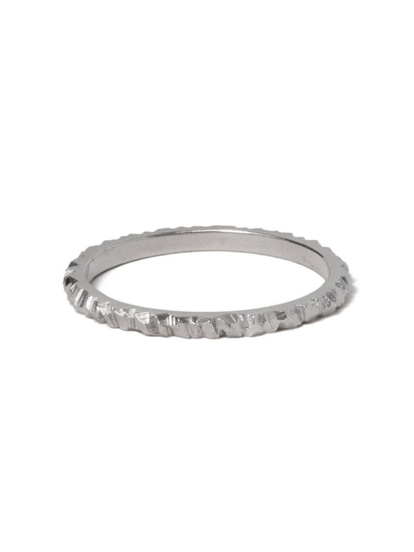 Mini Facet Ring – White Gold