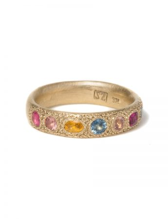 Multicolour Eternal Love Ring - Gold