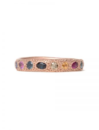 Multicolour Eternal Love Ring - Rose Gold