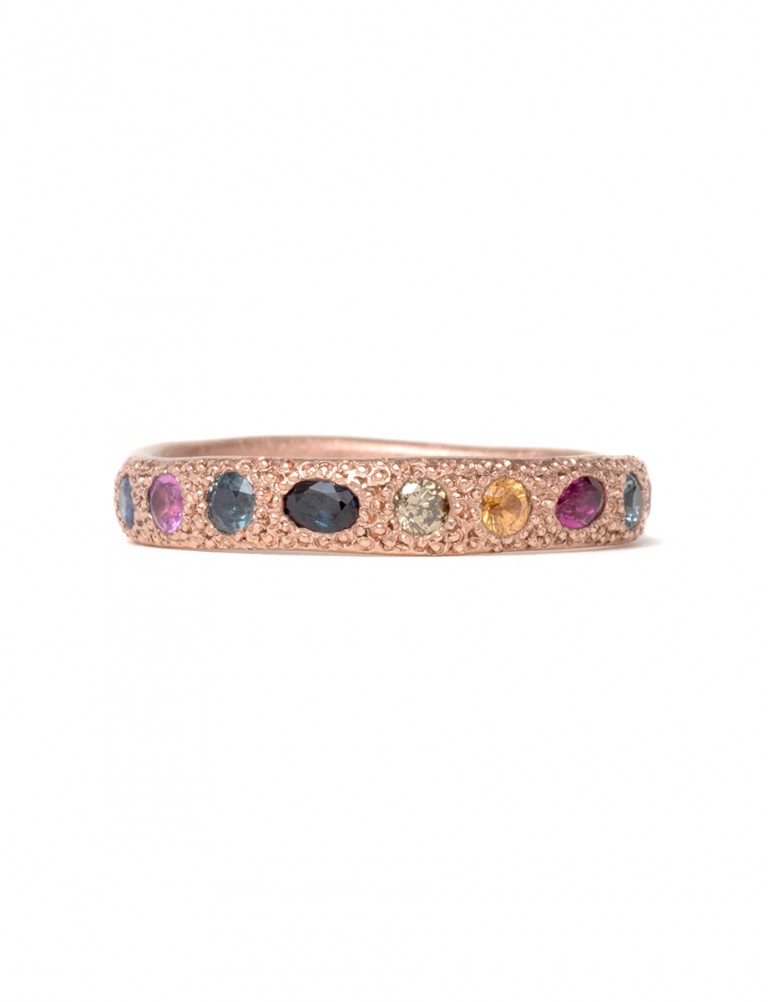 Multicolour Eternal Love Ring – Rose Gold