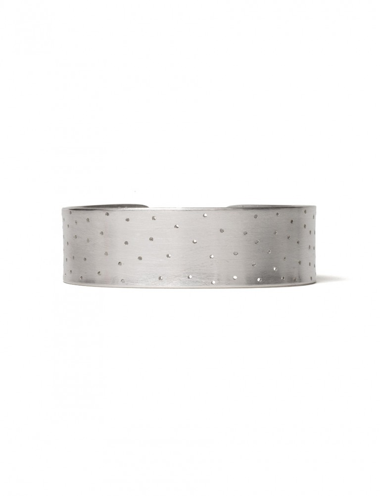 Perforated Cuff – Silver
