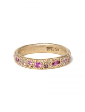 Pink Eternal Love Ring - Gold