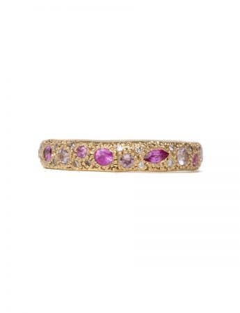 Pink Eternal Love Ring – Gold