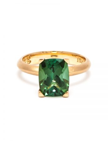 Poet's Ring - Green Tourmaline