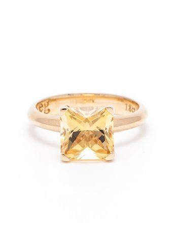 Poet's Ring - Yellow Zircon