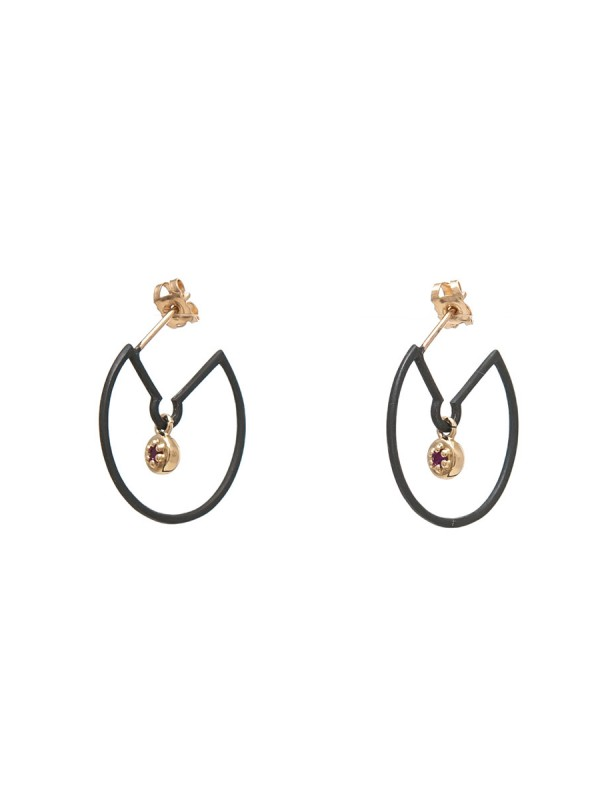 Poppy Rock Hoop Earrings – Pink Sapphire