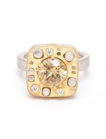Quilter Ring - Yellow Zircon
