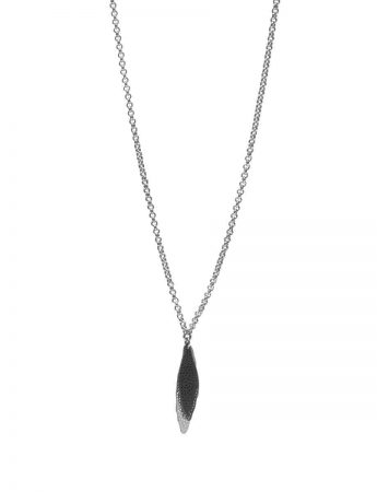 Shadow Leaf Neckpiece - Black & Silver
