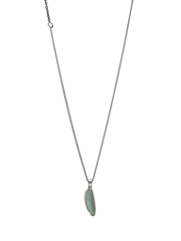 Small Beach Glass Necklace – Aqua