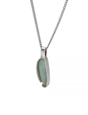 Small Beach Glass Necklace - Aqua