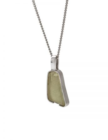 Small Beach Glass Necklace - Sage Green