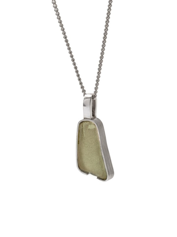 Small Beach Glass Necklace – Sage Green