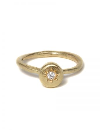 Small Pledge Ring - Diamond