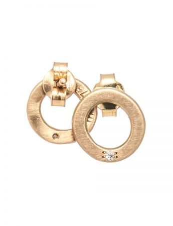 Studded Halo Earrings  – Diamond