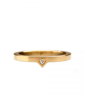 Diamond Triangle Stack Ring - Yellow Gold
