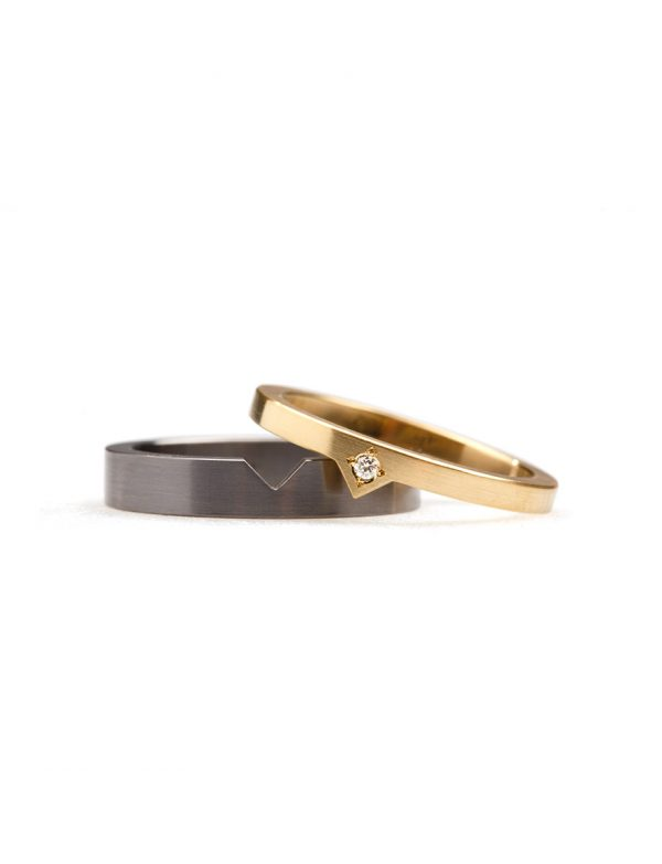 Triangle Stack Ring – Tantalum