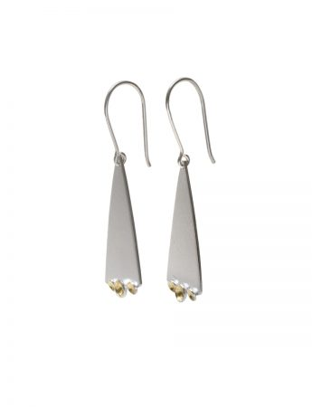 Triangle Cup Hook Earrings - Silver & Gold