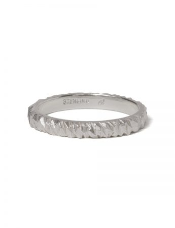 Wide Mini Facet Ring - Silver