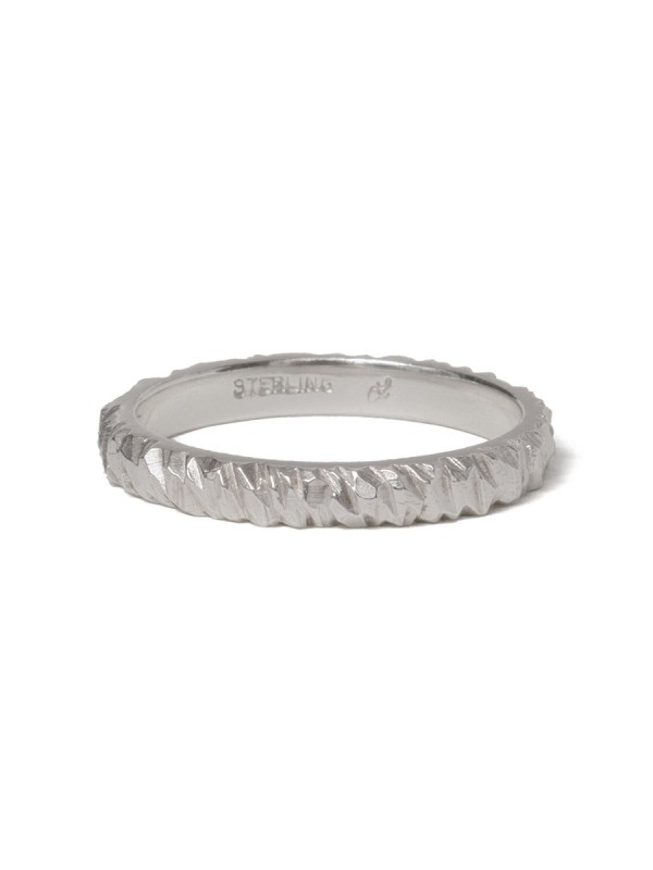 Wide Mini Facet Ring – Silver