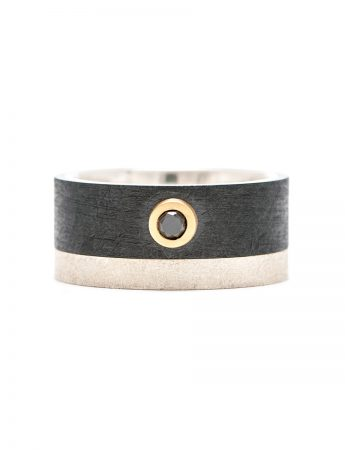 Black Diamond & Zirconium Ring