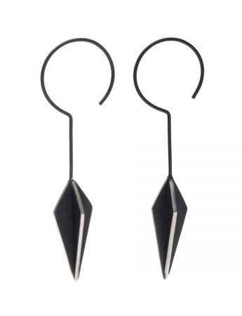 Black Kite X Long Hook Earrings