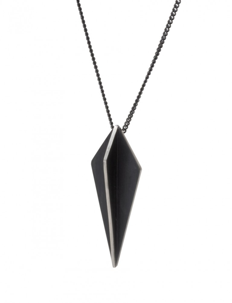 Black Kite X Pendant Necklace