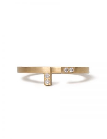 Ninety Degrees Diamond Ring - Yellow Gold