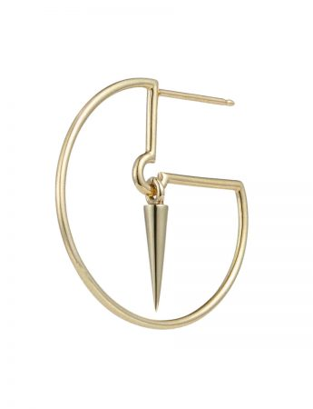 Pendulum Hoop Earrings - Matte & Polished Gold