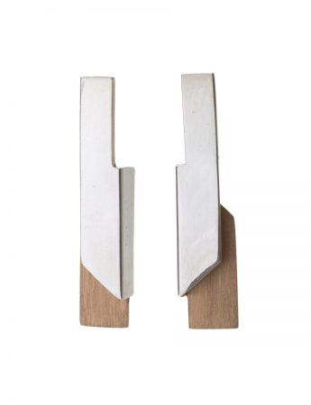 Rectangular Bi-Fold Earrings - Silver & Gold