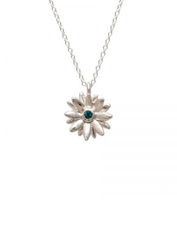 Daisy Star Necklace - Blue Sapphire