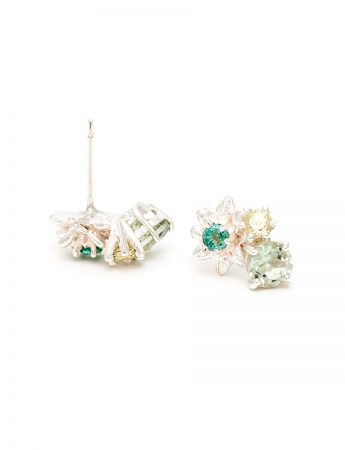 Fleurs Stud Earrings - Mint