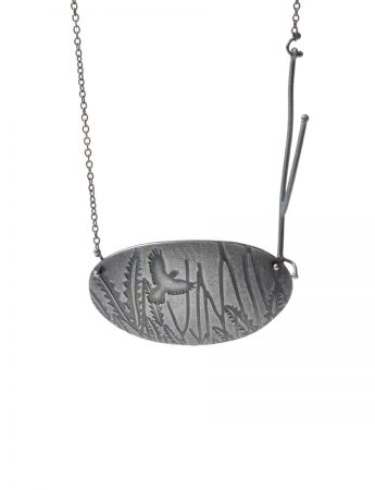 Flight Necklace - Blackened Silver