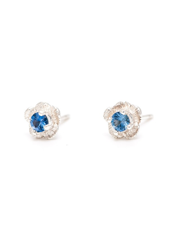 Forget-Me-Not Stud Earrings – Blue Sapphire