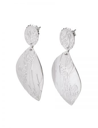 Hakea Earrings  - Silver