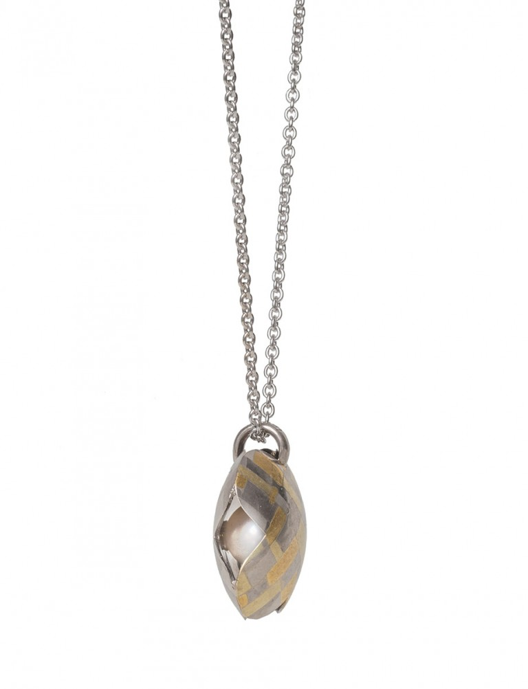 Hidden Pearl X Pendant Necklace