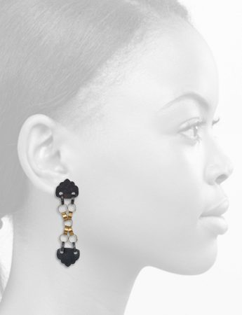 Kiss Kiss Earrings – Black & Gold