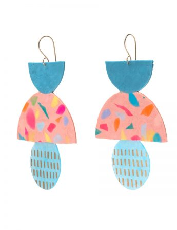 Large Blue & Multi Ice Cream Earrings