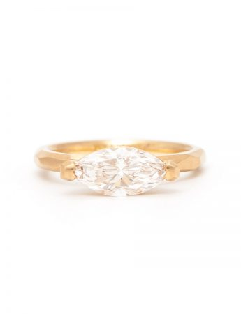Marquise Cut Champagne Diamond Ring