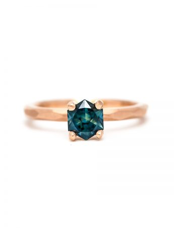 Narelle Hexagon Sapphire Ring - Rose Gold