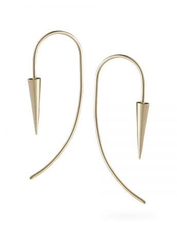 Pendulum Earrings - Matte Gold