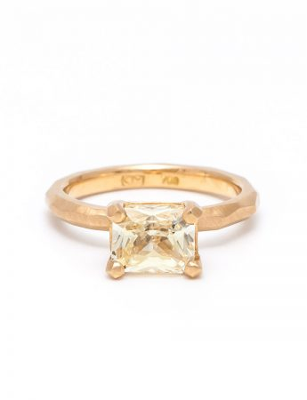 Radiant Cut Yellow Sapphire Ring