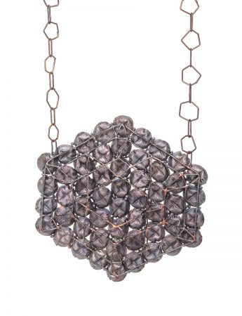 Shibuichi X Honeycomb Hexagon Necklace