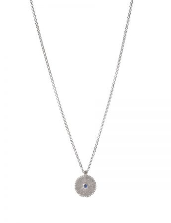 Silver Star Necklace - Sapphire