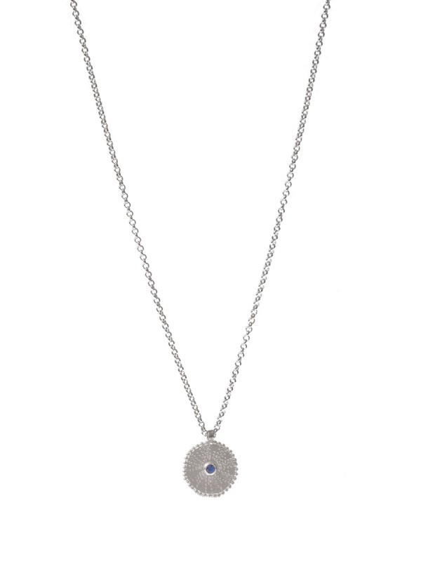 Silver Star Necklace – Sapphire