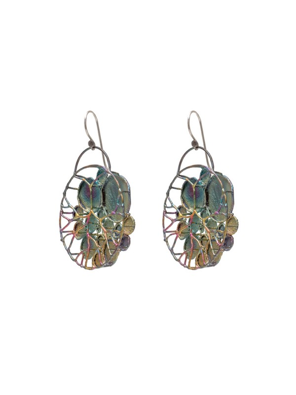 Small Lilypad Hanging Earrings