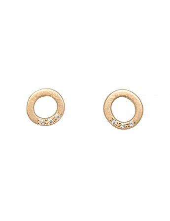 Studded Halo Earrings  - Diamond