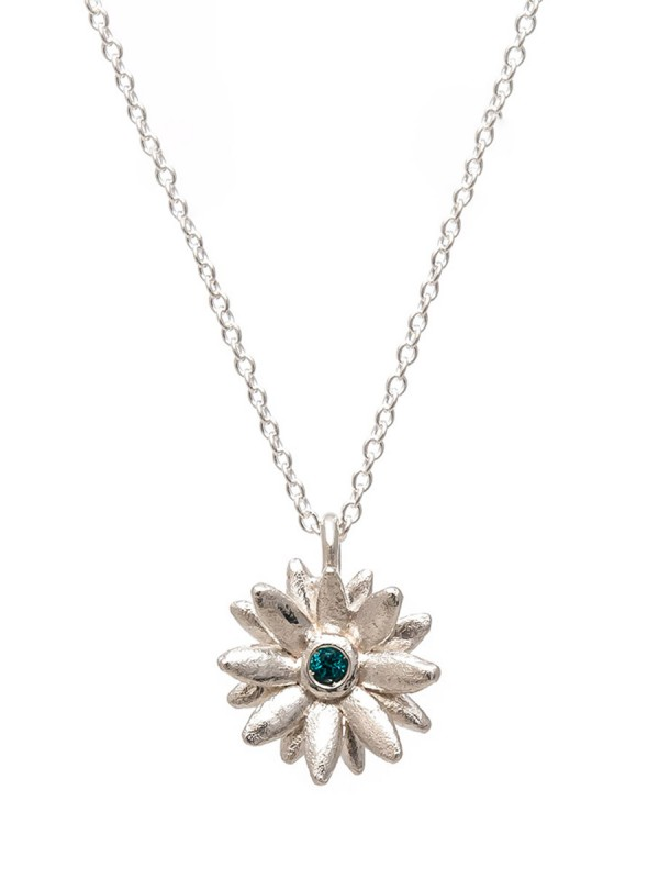 Daisy Star Necklace – Blue Sapphire