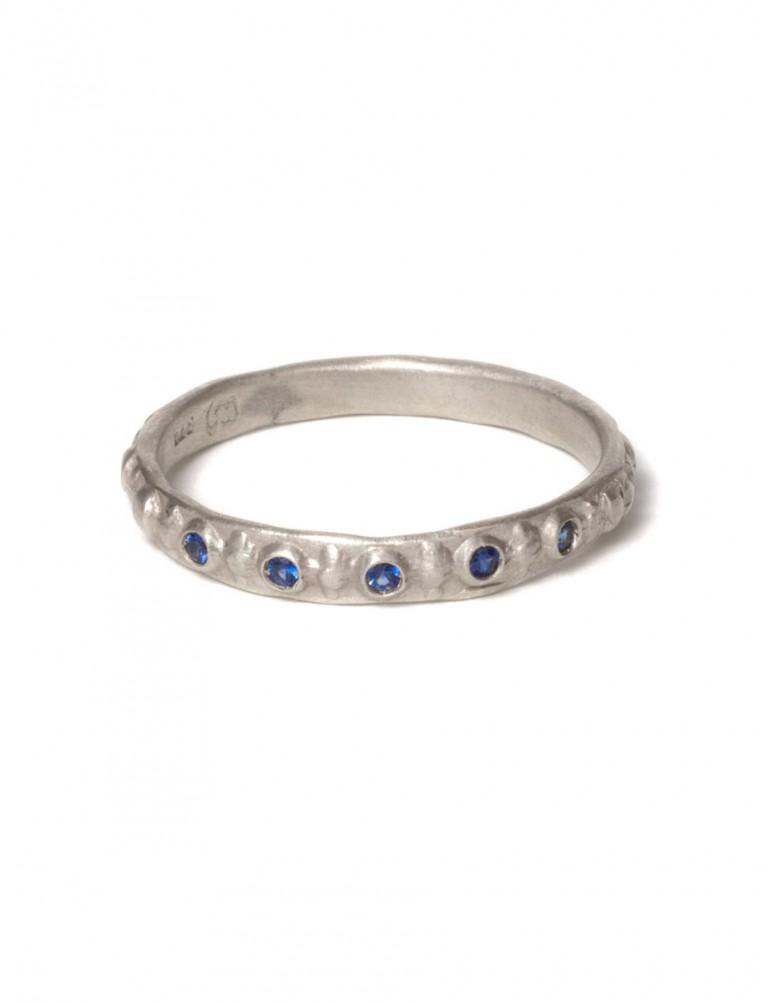 Sapphire Istanbul Ring – White Gold